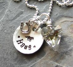 Personalized Hand Stamped Horse by EquineExpressionsbyD on Etsy, $48.00 - Love this!!