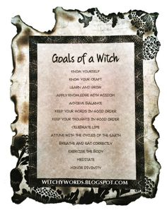 Goals of a Witch #wicca Book of Shadows