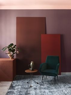 We take a look at colour trends for 2019 and beyond and see a return to bold and saturated colours that express personality and individuality. Objet Deco Design, Different Shades Of Red, Bohemian Style Bedrooms, Of Wallpaper, Living Room Bedroom, Color Trends, Design Trends, Colorful Interiors, Interior Inspiration