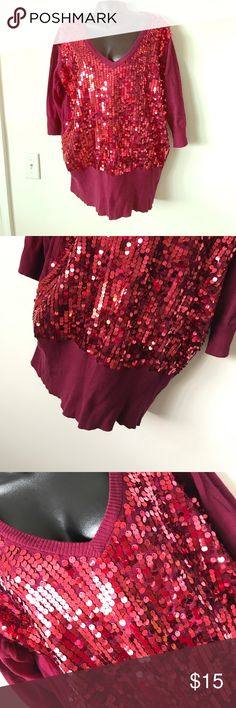 TORRID BURGUNDY SWEATER Excellent condition - no flaws - offers accepted - Brand new - 81% cotton, 19% nylon - 10% off two or more items! Torrid Sweaters Crew & Scoop Necks