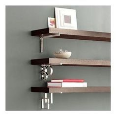 it adds a little more character to the wall over just a plain black or brown shelf ikea has some neat wall shelf brackets