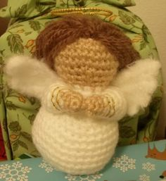 Amigurumi Nativity Crocheted Angel Pattern on Crafty Cattery. she also has Mary and baby Jesus, Joseph and as of Jan 2013 sheep!