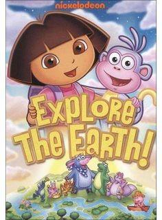 "Dora the Explorer: Explore the Earth DVD - Nickelodeon - Toys ""R"" Us Dora Cartoon, Dora Games, English Games, Abc Alphabet, Pet Monkey, Nickelodeon, Anime Child, Dora The Explorer, Supernatural"