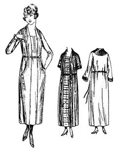 Past Patterns: #2307:Ladies' and Misses' One-piece dress with Vest Front: Circa 1923-1924