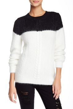 Drowning Cable Crew Neck Sweater by Band of Outsiders on @HauteLook