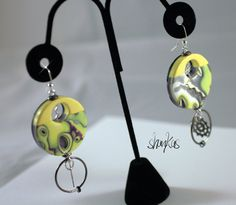 Polymer Clay Earrings  HEIDI Collection  WEARABLE ART by shankas, $18.00