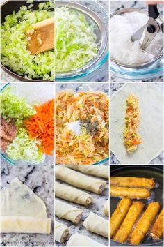 Easy Spring Rolls, Thai Spring Rolls, Fried Spring Rolls, Vegetable Spring Rolls, Chicken Spring Rolls, Asian Appetizers, Appetizer Recipes, Asian Recipes, Healthy Recipes