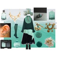 Sea Witch by maggiehemlock on Polyvore featuring Forever Unique, Alberta Ferretti, Report, Carolee, NARS Cosmetics, Balenciaga, H2O+, Butter London, Tozai and Pier 1 Imports