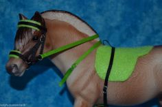 Breyer - Peter Stone - Bareback and bitless set for breyer fjord! Horse tack