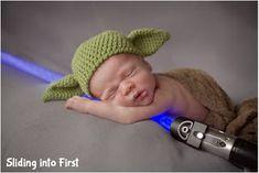 newborn pictures, boy, star wars, yoda