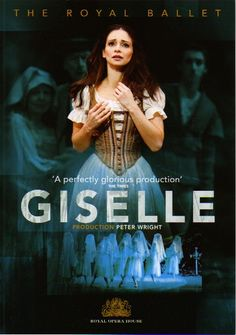 Roberta Marquez of the Royal Ballet advertising Sir Peter Wright's production of Giselle. Credit: ROH