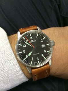 Fortis Flieger ETA 2824-2 on Horween Dublin by Threadhunters.