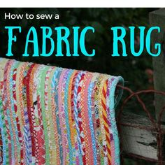How to sew a fabric rug : Tutorial