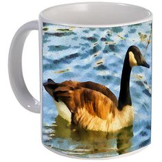 Canada Gooose -  Ceramic Coffee/Latte Mug by DoggyLips  - 2 sizes available by DoggyLips on Etsy
