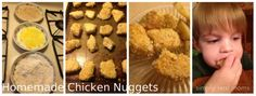 Why did I not try these sooner?! Homemade chicken nuggets that your kids will actually EAT! Yum!