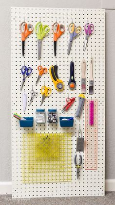 The perfect way to stay organized in your sewing or crafting room!
