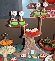 Make a wooden Cupcake Stand - step by step Photo tutorial - Bildanleitung
