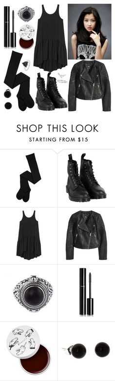 """""""MOON GA YOUNG"""" by cecilia-payne-1 ❤ liked on Polyvore featuring beauty, Dr. Martens, Monki, H&M, Chanel, too cool for school and Topshop"""