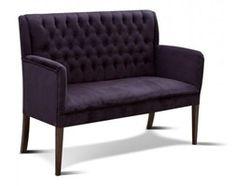 Ikea küchenbank ~ Upholstered. settee. navy blue microfiber [velvet like] linen