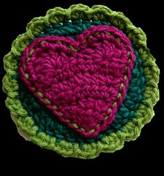 Permann's Heart Badge. ❤CQ #crochet #hearts #valentines http://www.pinterest.com/CoronaQueen/love/ ♥ Crochet ♥ Hearts ♥