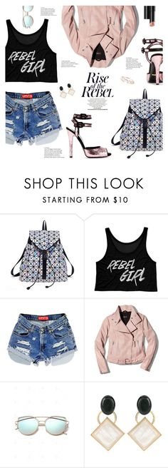 """Pink Rebel"" by lisalockhart ❤ liked on Polyvore featuring Mackage, Gucci, Arbonne and Marni"