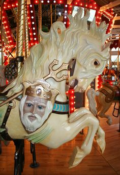 Great Plains Carousel in Helena, Montana. Note King Trident ~ Carousel 59 by ~Falln-Stock on deviantART. All The Pretty Horses, Beautiful Horses, Merry Go Round Carousel, Big Sky Country, Wooden Horse, Great Plains, Painted Pony, Carousel Horses, Equine Art