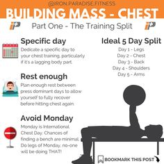 💥 Do you want to know how to build bigger chest muscles?💥. . 💪🏻 If you do then I've got a 4 post series coming over the next 4 days that will give you the hints and tips you need to build that mass you're looking for. So if you're yearning for that chest of a Marvel superhero then you'll want to check out these posts. . 🏋️♀️First up we're talking training splits. This is how you structure your week of training to maximise muscle development. Not just for chest, but for your whole…