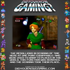 Medallions in Ocarina of Time were used to telaport?