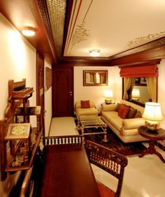 Living Room - Presidential Suite, Maharajas' Express    Could you believe this is interiors of a train? Not ven me first when I heard of it. This is India's Maharajas' Expree luxury train which has been awarded World's Leading Luxury Train at World Travel Awards 2012