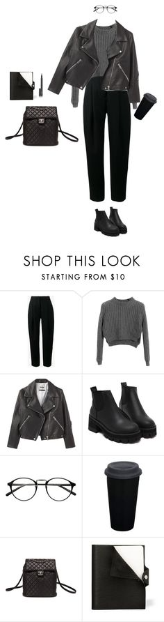 """New York City girl"" by djulia-tarasova ❤ liked on Polyvore featuring Acne Studios, Chicnova Fashion, Chanel, Hermès and NARS Cosmetics"