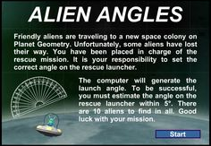 The Elementary Math Maniac: Fun and Free Math Computer Games: Alien Angles Math Games, Fun Games, Geometry Games, Space Colony, Area And Perimeter, News Space, Free Math, Elementary Math, Gaming Computer