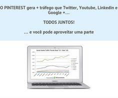 O Pinterest Gera mais trafego que o Twitter, Youtube, Linkedin e Google+ TODOS JUNTOS! Veja como pode aproveitar a sua parte... http://membros.pinstagramguy.com/bootcampv20/ #pinterest #youtube #twitter