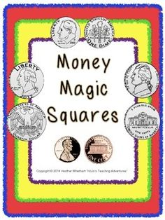 Money Magic Square Puzzles {New updates DOUBLED the size of this product to allow for more differentiation!} $