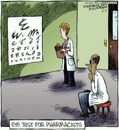 Pharmacist eye test