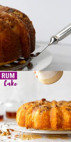 This Homemade Rum Cake is made completely from scratch, incredibly buttery, soft, and light. This cake is also topped with an easy rum glaze! Rum Cake Recipe From Scratch, Rum Cake Recipe Easy, Dessert From Scratch, Homemade Cake Recipes, Baking Recipes, Rum Recipes, Asian Recipes, Chocolate Rum Cake, German Chocolate