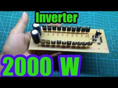 This is a high power inverter. It has a maximum power if you use 20 mosfet The capacity depends much on the transformer, your transformer mus. Robotics Engineering, Robotics Projects, Diy Electronics, Electronics Projects, Tesla Free Energy, Electronic Circuit Design, Computer Maintenance, Electrical Circuit Diagram, Subwoofer Box Design