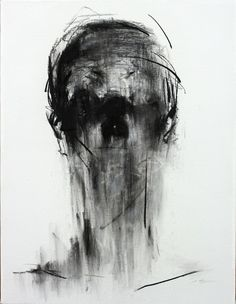 [109] untitled charcoal on canvas 53.2 x 41 cm 2013 by KwangHo Shin, via Behance