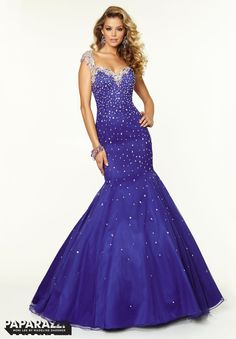Prom Dresses / Gowns Style 97055: Jeweled Beading on Net http://www.morilee.com/prom/paparazzi/97055