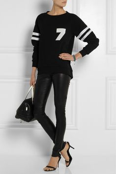 Karl LagerfeldRachel cotton-jersey sweater Alexander Wang Antonia leather sandasl Karl LagerfeldBowletto textured leather tote |NET-A-PORTER.COM