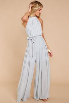 Dressy jumpsuit outfit - Pass On By Grey Jumpsuit – Dressy jumpsuit outfit Jumpsuit Dressy, Jumpsuit Outfit, Elegant Jumpsuit, Rompers Dressy, Prom Jumpsuit, Summer Jumpsuit, Romper Pants, Pants Outfit, Classy Jumpsuits For Weddings