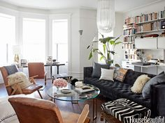 Designer Nate Berkus turned this space into a true multipurpose room.