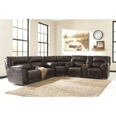 Barrettsville DuraBlend® Reclining Sectional by Ashley at Becker Furniture World Couch And Loveseat Set, Sofa Set, Living Room Sets, Living Room Furniture, Leather Reclining Sectional, Leather Sofa, Bonded Leather, Leather Living Room Set, Kuala Lumpur