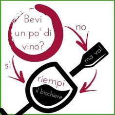 Un convincente diagramma di flusso. Noi, naturalmente, preferiamo la strada breve. #winequote