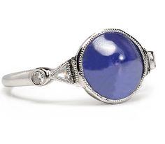 Domed Wonder: Sapphire & Diamond Ring
