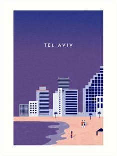 Buy 'Tel Aviv' by Katinka Reinke as a Sticker, Poster, Throw Pillow, Tote Bag, Art Print, Canvas Print, Framed Print, Art Board, Photographic Print, Metal Print, Greeting Card, Drawstring Bag, Spiral Notebook, Clock, Acrylic Block, Long T-...