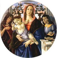 Botticelli, Sandro , - Madonna with Child, Saint John the Baptist and an Angel