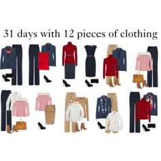 31 days with 12 pieces of clothing 2/3