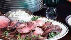 Roast Beef Tenderloin with Horseradish Cream. To double or triple the recipe, sear the tenderloins one at a time, then arrange crosswise in roasting pan (cook time will be the same). Leave at least 1 inch-2 inches between pieces of meat.