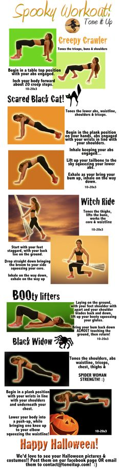 It's your Spooky Tone It Up Workout printable! www.toneitup.com