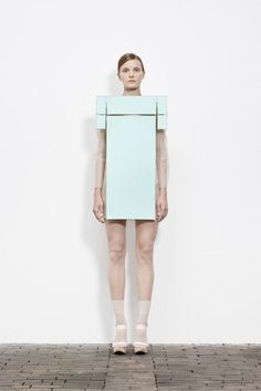 Sculptural Fashion exploring purity, minimalism & irony; conceptual fashion design; wearable art // Maxime Rappaz
